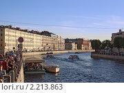Купить «Вечерняя набережная канала. Санкт-Петербург», фото № 2213863, снято 16 августа 2010 г. (c) Емельянов Валерий / Фотобанк Лори