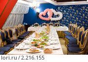 Купить «Свадебный банкет», фото № 2216155, снято 10 декабря 2010 г. (c) Александр Подшивалов / Фотобанк Лори