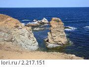 Купить «Берег Черного моря», фото № 2217151, снято 20 августа 2010 г. (c) Галина Бурцева / Фотобанк Лори