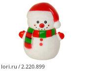 Купить «Снеговик , новогодняя игрушка изолированно на белом фоне», фото № 2220899, снято 23 июля 2019 г. (c) Володина Ольга / Фотобанк Лори