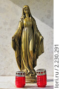 Купить «Статуэтка Девы Марии и два подсвечника», фото № 2230291, снято 6 сентября 2008 г. (c) Fro / Фотобанк Лори