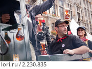 Фестиваль пива в Брюсселе. Kwak (2010 год). Редакционное фото, фотограф Дмитрий Бороздин / Фотобанк Лори