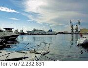 Купить «Акватория морского порта города Сочи», фото № 2232831, снято 15 июля 2010 г. (c) Самойлова Екатерина / Фотобанк Лори