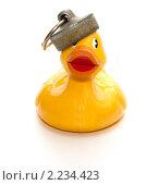Пластиковая уточка для ванны. Стоковое фото, фотограф Владислав Зитикис / Фотобанк Лори