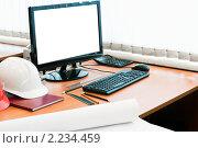 Купить «Рабочее место», фото № 2234459, снято 14 августа 2010 г. (c) Кекяляйнен Андрей / Фотобанк Лори