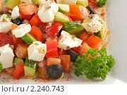 Греческий салат. Стоковое фото, фотограф Андрей Алпатов / Фотобанк Лори