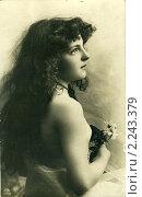 Купить «Портрет юной женщины, 1896», фото № 2243379, снято 17 октября 2019 г. (c) Retro / Фотобанк Лори