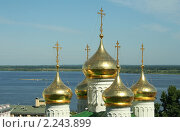 Купить «Купола Церкви Иоанна Предтечи», фото № 2243899, снято 28 июня 2009 г. (c) Андрей Бушуев / Фотобанк Лори