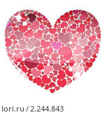 Сердце из сердец. Стоковая иллюстрация, иллюстратор Андрей Кидинов / Фотобанк Лори