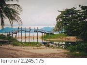 Мост на пляже Маенам, остров Самуи, Таиланд. Стоковое фото, фотограф Роман Богдановский / Фотобанк Лори