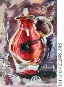 Красный кувшин. Стоковая иллюстрация, иллюстратор Фомченкова Юлия / Фотобанк Лори