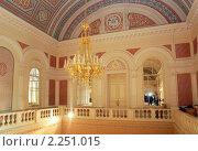 Интерьер Большого театра в Москве: Белое фойе, фото № 2251015, снято 2 декабря 2010 г. (c) Владимир Горощенко / Фотобанк Лори