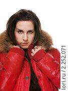 Купить «Девушка в красной куртке», фото № 2252071, снято 10 декабря 2010 г. (c) Миленин Константин / Фотобанк Лори