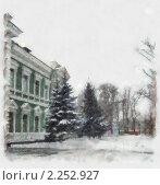 Пейзаж с елками. Стоковая иллюстрация, иллюстратор Фомченкова Юлия / Фотобанк Лори