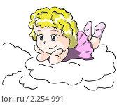 Купить «Девочка на облачке», иллюстрация № 2254991 (c) Евгения Малахова / Фотобанк Лори
