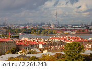 Санкт-Петербург. Вид на город с высоты птичьего полета (2010 год). Стоковое фото, фотограф Юрий Бульший / Фотобанк Лори