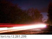 Свет от фар машин. Стоковое фото, фотограф Серебрякова Екатерина / Фотобанк Лори