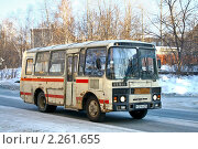 Купить «Автобус», фото № 2261655, снято 6 января 2011 г. (c) Art Konovalov / Фотобанк Лори