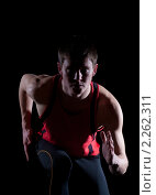 Купить «Бегущий спортсмен», фото № 2262311, снято 6 января 2011 г. (c) Андрей Батурин / Фотобанк Лори