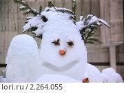 Купить «Снеговик», фото № 2264055, снято 25 мая 2019 г. (c) Илюхина Наталья / Фотобанк Лори