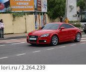 Купить «Красная Ауди», фото № 2264239, снято 5 июля 2020 г. (c) Константин Босов / Фотобанк Лори