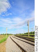 Купить «Железная дорога», фото № 2269327, снято 6 июня 2010 г. (c) Сергей Яковлев / Фотобанк Лори