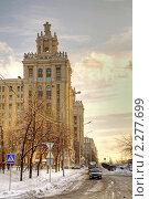 Купить «Сталинская высотка», фото № 2277699, снято 6 января 2011 г. (c) Parmenov Pavel / Фотобанк Лори