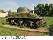 Купить «Танковый музей в подмосковных Снегирях, американский танк Шерман», фото № 2280307, снято 8 июня 2010 г. (c) Малышев Андрей / Фотобанк Лори