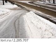 Зимняя дорога. Стоковое фото, фотограф Анатолий Аверьянов / Фотобанк Лори