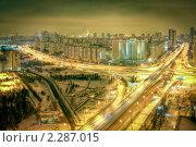 Купить «Пересечение проспектов Ленинского и Вернадского, Москва», фото № 2287015, снято 16 января 2010 г. (c) Kremchik / Фотобанк Лори