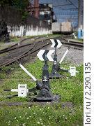 Железнодорожный путь. Стоковое фото, фотограф Galina Zakovorotnaya / Фотобанк Лори
