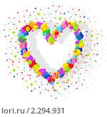 Купить «Сердце из кубиков», иллюстрация № 2294931 (c) Tati@art / Фотобанк Лори