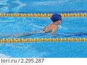 Купить «Пловчиха на соревнованиях», эксклюзивное фото № 2295287, снято 19 декабря 2010 г. (c) Александр Тарасенков / Фотобанк Лори