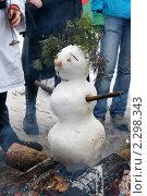 Купить «Масленица. Сжигание чучела зимы, снеговика.», фото № 2298343, снято 21 марта 2010 г. (c) Ольга Рындина / Фотобанк Лори