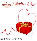 Купить «Открытка к Дню Святого Валентина», иллюстрация № 2305427 (c) Виктория Очеретько / Фотобанк Лори