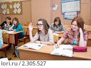 Купить «Урок в школе», фото № 2305527, снято 27 января 2011 г. (c) Макарова Елена / Фотобанк Лори