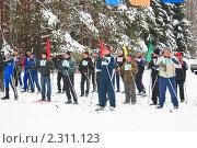 Лыжники на старте (2011 год). Редакционное фото, фотограф Сергей Белимов / Фотобанк Лори