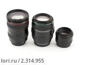 Купить «Три разных объектива», фото № 2314955, снято 24 декабря 2009 г. (c) Losevsky Pavel / Фотобанк Лори
