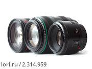 Купить «Три разных объектива», фото № 2314959, снято 24 декабря 2009 г. (c) Losevsky Pavel / Фотобанк Лори