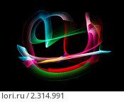 Купить «Абстрактный фон - рисование светом», фото № 2314991, снято 26 декабря 2009 г. (c) Losevsky Pavel / Фотобанк Лори