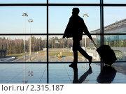 Купить «Мужчина в аэропорту», фото № 2315187, снято 11 апреля 2010 г. (c) Losevsky Pavel / Фотобанк Лори