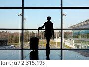 Купить «Девушка с чемоданом», фото № 2315195, снято 11 апреля 2010 г. (c) Losevsky Pavel / Фотобанк Лори