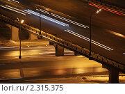Купить «Ночная дорога», фото № 2315375, снято 23 февраля 2010 г. (c) Losevsky Pavel / Фотобанк Лори