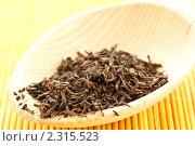Черный чай ароматизированный. Стоковое фото, фотограф Peredniankina / Фотобанк Лори