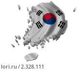 Купить «Флаг  в форме Южной Кореи», иллюстрация № 2328111 (c) Савельев Андрей / Фотобанк Лори