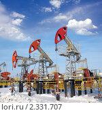 Купить «Нефтяное месторождение», фото № 2331707, снято 20 февраля 2008 г. (c) Георгий Shpade / Фотобанк Лори