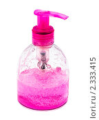 Купить «Пластиковая бутыль с розовой жидкостью», фото № 2333415, снято 9 ноября 2008 г. (c) Куликов Константин / Фотобанк Лори