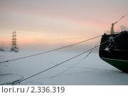 Купить «Туманная Нева. Санкт-Петербург», эксклюзивное фото № 2336319, снято 11 февраля 2011 г. (c) Александр Алексеев / Фотобанк Лори