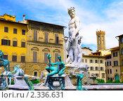 Купить «Фонтан Нептуна,  Флоренция. Италия.», фото № 2336631, снято 23 августа 2010 г. (c) Vitas / Фотобанк Лори