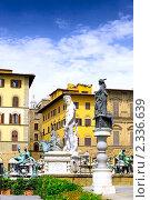 Купить «Фонтан Нептуна,  Флоренция. Италия.», фото № 2336639, снято 23 августа 2010 г. (c) Vitas / Фотобанк Лори